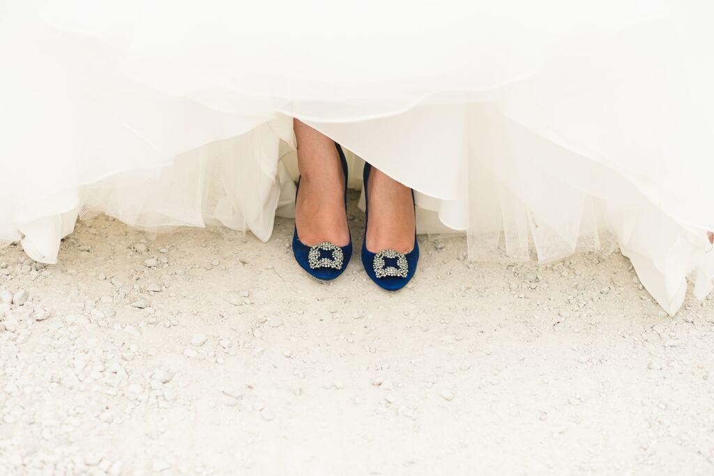 Hochzeitsbrauch, etwas blaues