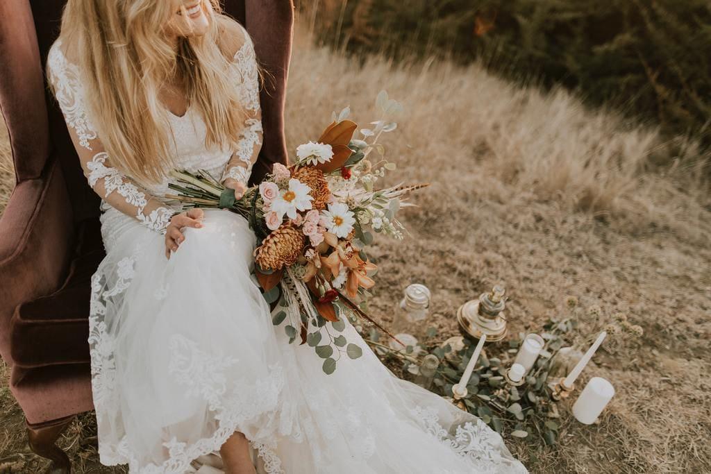 Hochzeit im Bohemian Stil